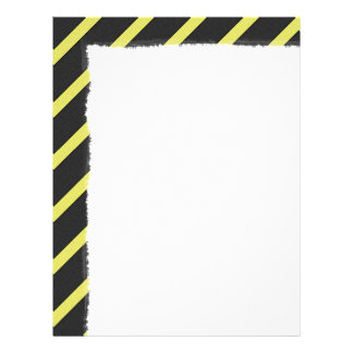 Gray and Yellow Striped Letterhead