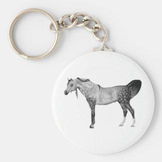 Gray Arabian Keychain