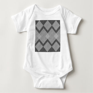 gray argyle baby bodysuit