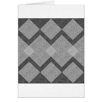 gray argyle card
