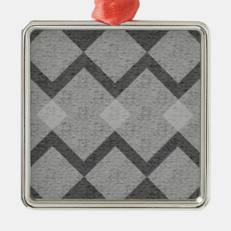 gray argyle metal ornament