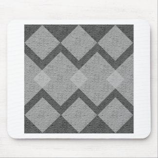 gray argyle mouse pad