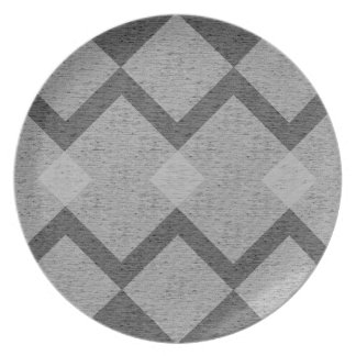 gray argyle plate