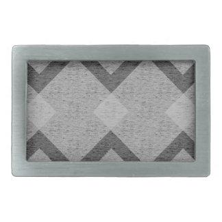 gray argyle rectangular belt buckles