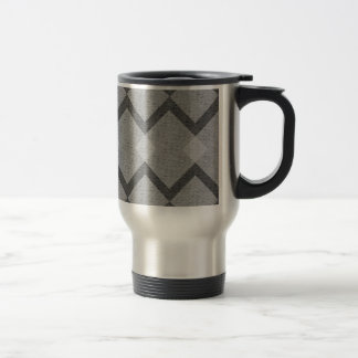 gray argyle travel mug