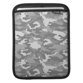 Gray Army Military Camo Camouflage Pattern Texture iPad Sleeve