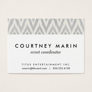 Gray Aztec Pastel Watercolor Ikat Soft Geometric Business Card