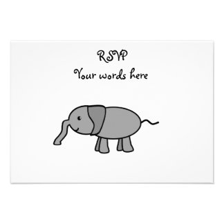 Gray baby elephant announcements