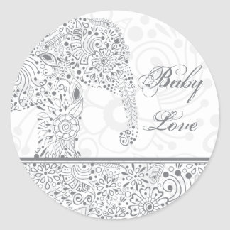 Gray Baby Love Elephant Sticker