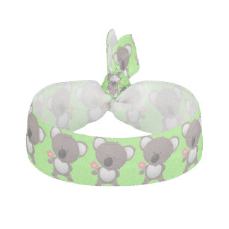 Gray Bear and Flower Animals Cute Hair Tie