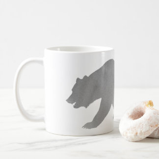 Gray Bear Watercolor Coffee Mug Alaska Grizzly