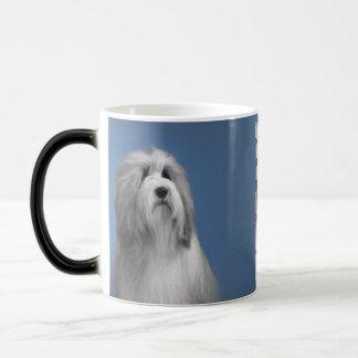 Gray Bearded collie Magic Mug