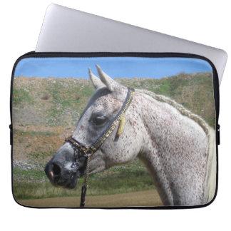 Gray Beduoin Arabian Mare Laptop Sleeve