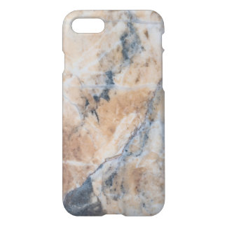 Gray & Beige Marble Stone Texture iPhone 7 Case