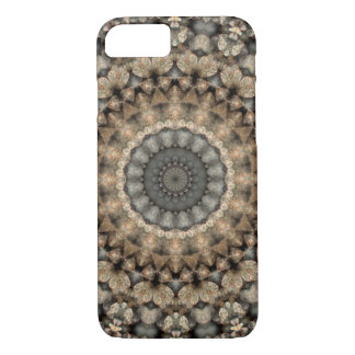 Gray & Beige Pebbles Mandala Kaleidoscope iPhone 8/7 Case
