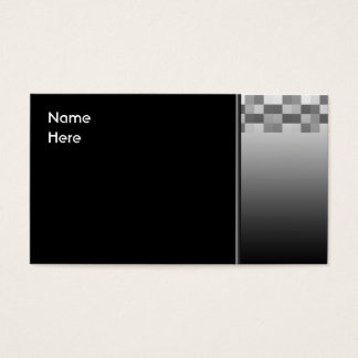 Gray, Black and White Squares Pattern. Business Card