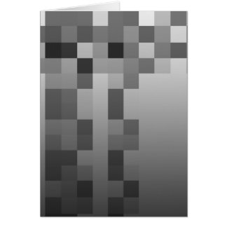 Gray, Black and White Squares Pattern. Card