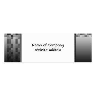 Gray, Black and White Squares Pattern. Mini Business Card