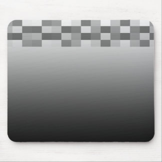 Gray, Black and White Squares Pattern. Mousepads