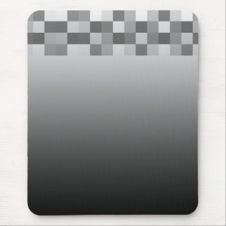 Gray, Black and White Squares Pattern. Mouse Pad