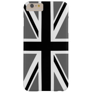 Gray Black and White Union Jack Barely There iPhone 6 Plus Case