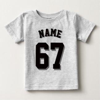 Gray & Black Baby | Sports Jersey Baby T-Shirt