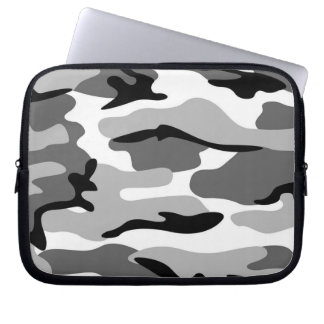 Gray & Black Camouflage Laptop Sleeve