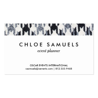 Gray & Black Houndstooth Modern Fabric Texture Business Card