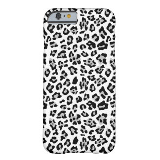 Gray Black Leopard Animal Print Pattern Barely There iPhone 6 Case