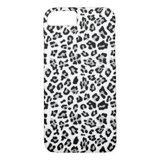 Gray Black Leopard Animal Print Pattern iPhone 7 Case