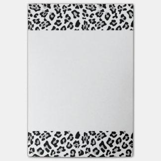 Gray Black Leopard Animal Print Pattern Post-it Notes
