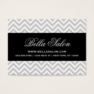 Gray & Black Modern Chevron Stripes Business Card