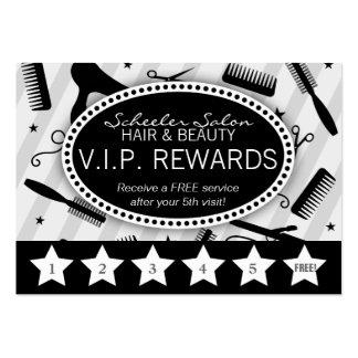 Gray & Black Salon Loyalty Business Cards