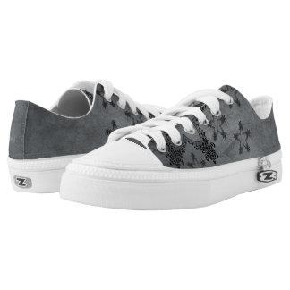 Gray/Black Stars Zipz Women's Shoes