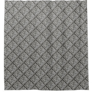 Gray Black Textural Geometric-Abstract Pattern