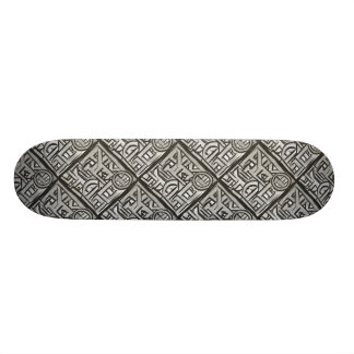 Gray Black Textural Geometric-Abstract Pattern Skate Decks