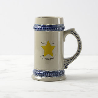 Gray Blue 18 oz Stein Coffee Mugs