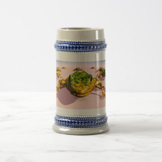 Gray/Blue 22 oz Stein Frog