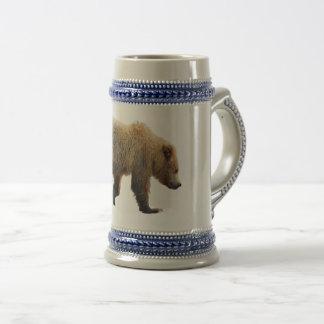 Gray/Blue 22 oz Stein w/ bear cub