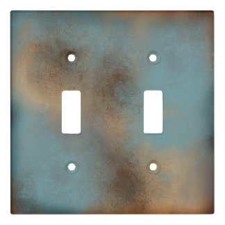Gray Blue and Golden Brown | Light Switch Cover