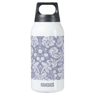 Gray-Blue Damask Insulated Water Bottle