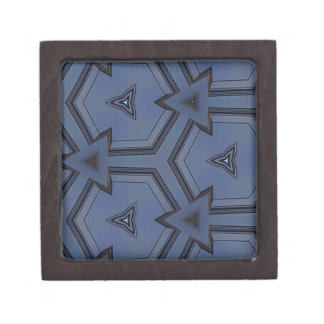 Gray Blue Hip Arrows Geometric Pattern Premium Jewelry Boxes