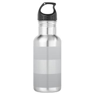 Gray Blue Stripes 532 Ml Water Bottle