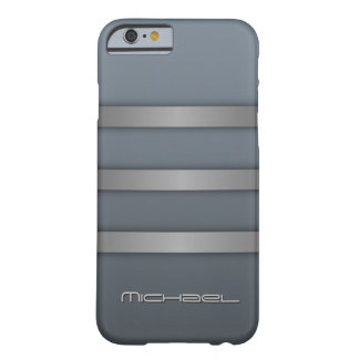 Gray Blue Stripes Monogram Manly iPhone 6 Case