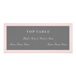 Gray & Blush Pink Top Table Plan Card