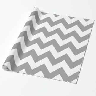 Gray Bold Chevron Wrapping Paper