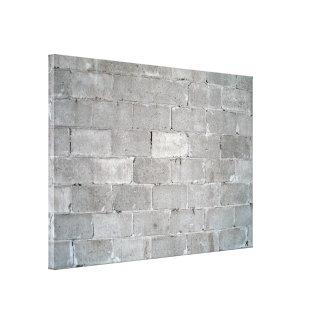 Gray Brick Wall Texture Canvas Print