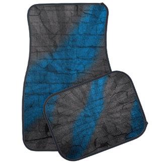 Gray & Bright Blue Faux Crackle Car Mats Car Mat