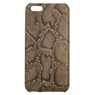 Gray Brown Black Snake Skin Case For iPhone 5C