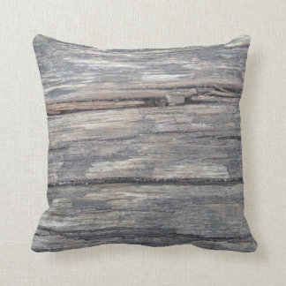 gray brown timber : almost solid brown gray pillow
